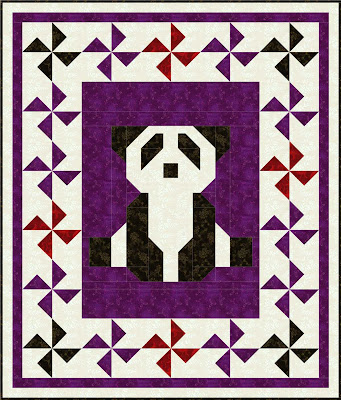 AJ Designs patchwork panda