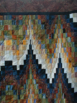 Forest Lights Bargello quilting detail 1