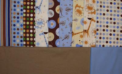 fabrics for Felix's quilt
