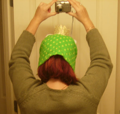 frog hat looking dorky on me