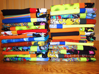 stacks o' pillowcases
