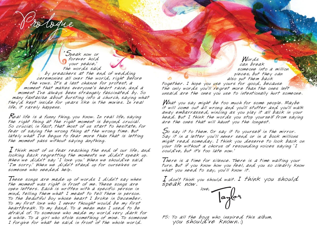 Taylor Swift Quotes From Songs From Speak Now Taylor Swift Speak Now