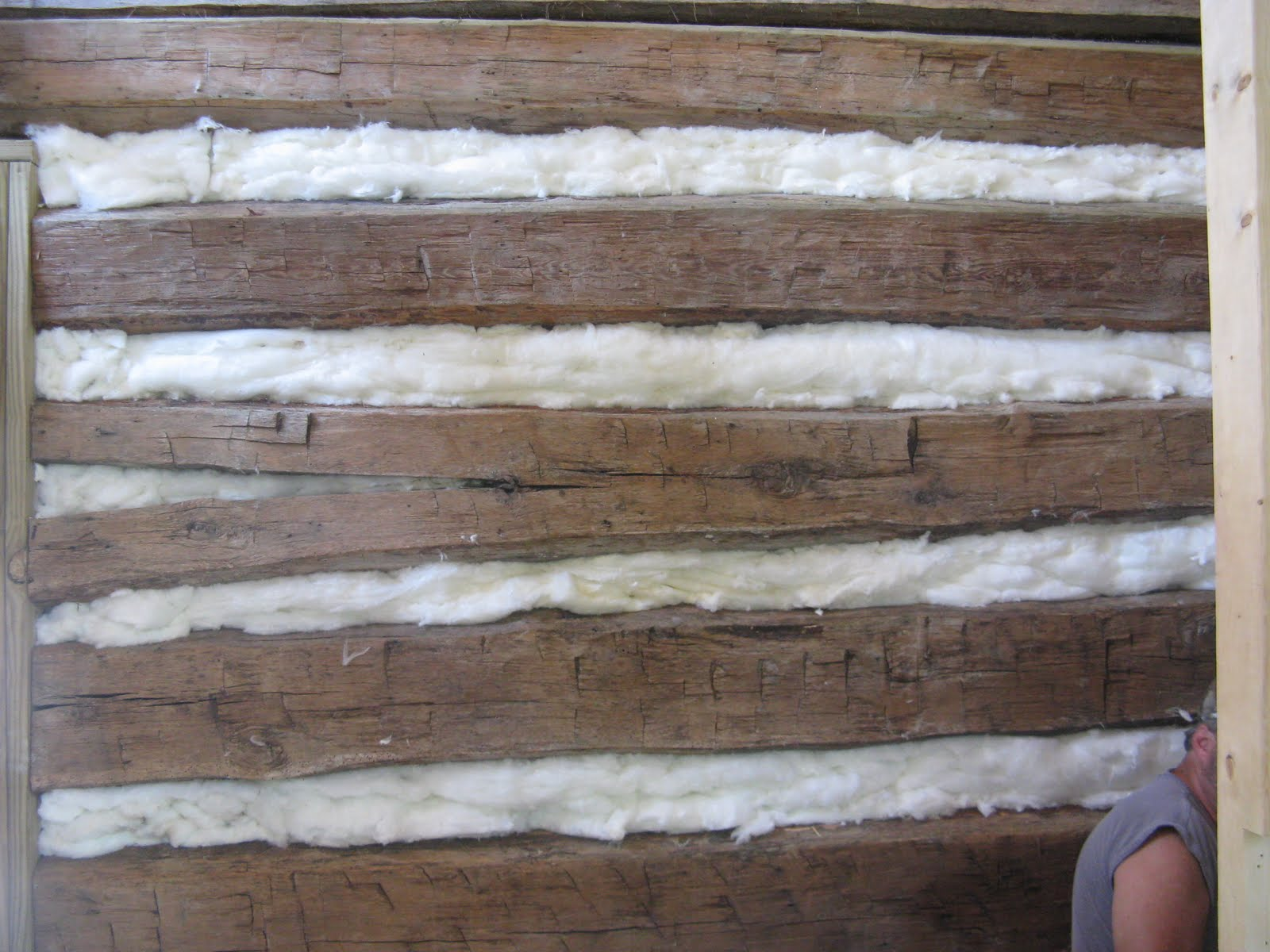 old log cabin revival inside chinking and framing in the