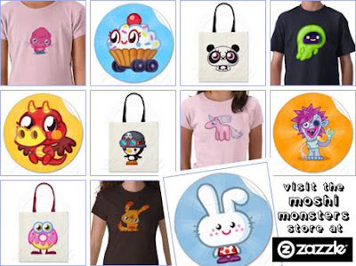 Moshi Monsters store at Zazzle!