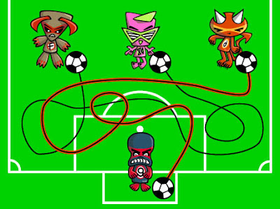 GOOOOAAAL! The Demon Mascot scores!