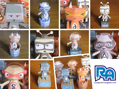 KawaiiPunk paper toys from Ruang Antho