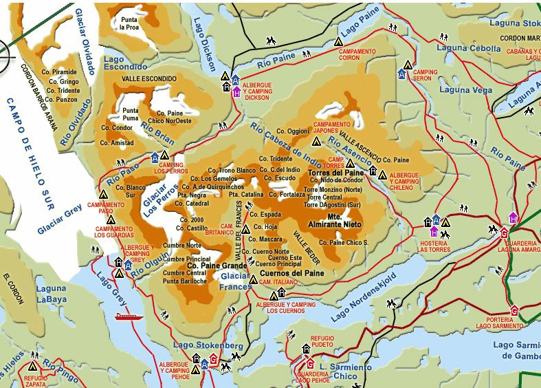 Torres del Paine circuits details