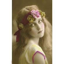 Mujer Vintage Victorian banda flores / Vintage women Victorian flower headband