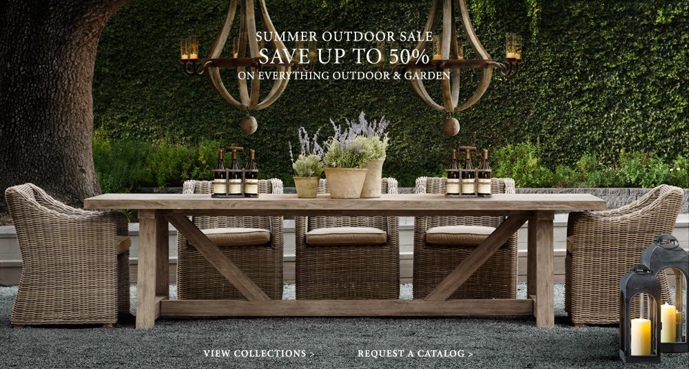 Second wind restoration hardware summer sale restoration hardware is having their summer sale with all outdoor and garden items 50 off they have some gorgeous pieces and sets to create wonderful aloadofball Images