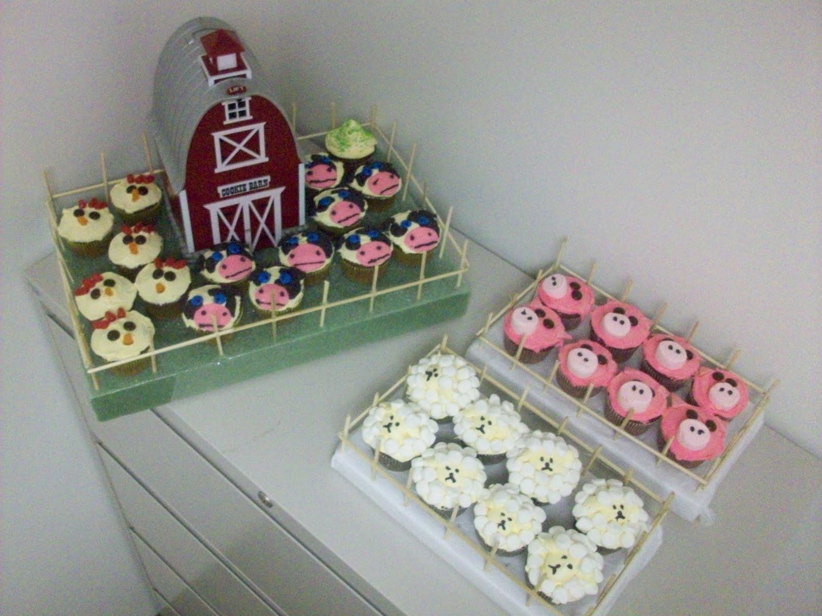Sweete parties farm animal cupcakes
