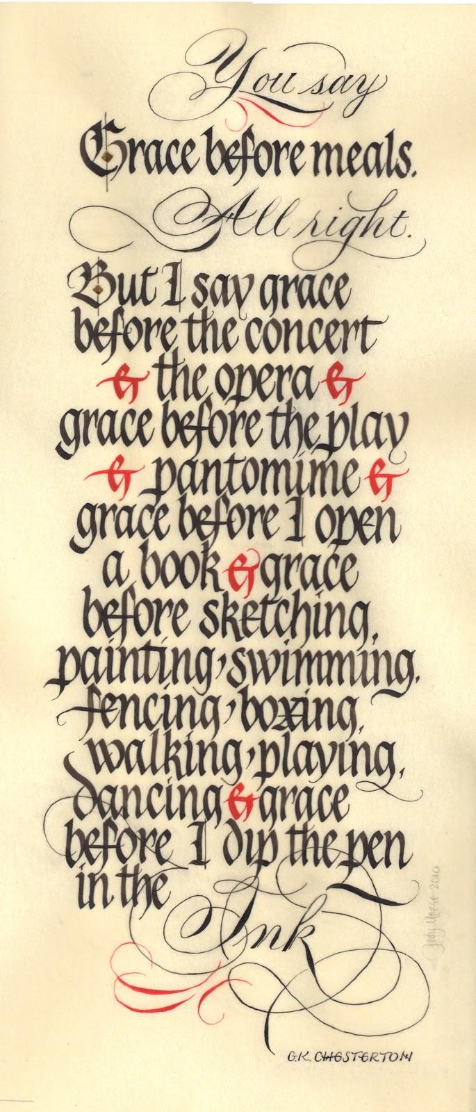 Mil plumas calligraphy grace under pressure