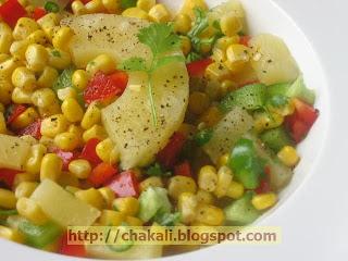 salad recipe, healthy salad, corn salad, pineapple salad, diet recipe, diet food, healthy heart recipe, corn recipe, pineapple recipe, recipe for salad, fruit salad