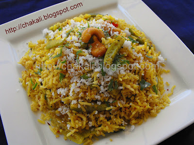 tondali bhat, tondli bhat, tondalee bhaat, ivy gourd rice, marathi recipes, ivy gourd recipes