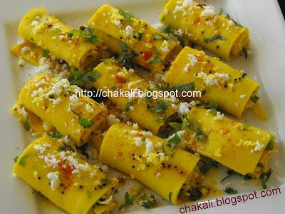Khandvi Recipe, Gujarati Khandvi Recipe Gram Flour, surali vadi, surali wadi, suralichya vadya