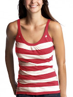 Woman wearing stripes dress looking slim, fashion red color dress for women and girls
