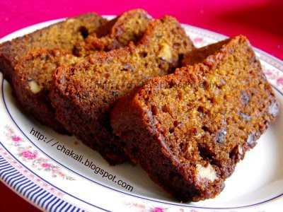 Eggless walnut cake, how to make eggless cake, eggless cake recipe