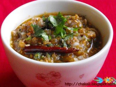 Vangyache Bharit, Vange Bharit, Bhurta, Baingan ka Bhurta, Eggplant raita