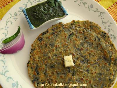 palak paratha, paneer paratha, oil free recipe, spinach paratha