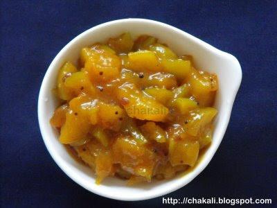 methamba, mango chutney, sweet mango relish
