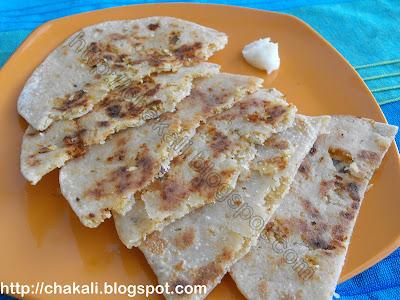 Naralachya Polya, naral poli, coconut jaggery roti