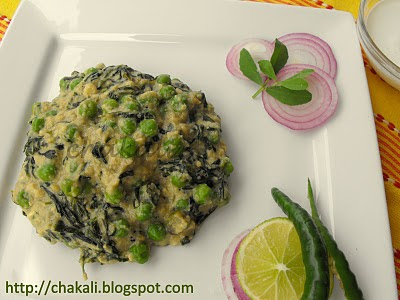 methi malai matar, methi matar malai, methi malai mutter recipe,north indian spicy curry