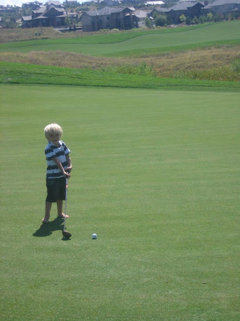 Kolton is a golf addict thanks to Grandpa Olsen