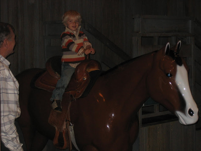 Kolton loves horses, but he was so scared to get on it!