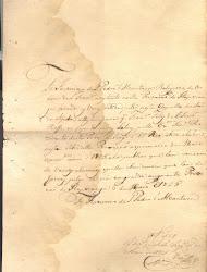 Recibos datados de 1825