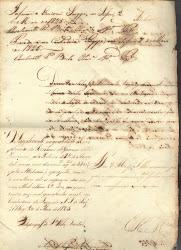 Recibo de 1825