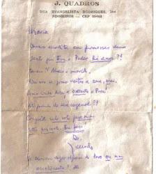 Fotos de Uma carta oficial do: ex presidente do Brasil em 1965