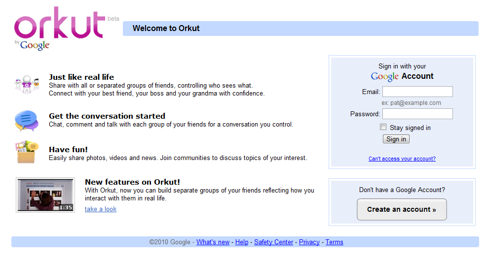 ... be easier than ever to keep up with everything that's new on orkut.