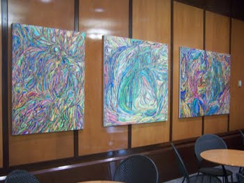 Francine Kohn Original Oils in a Building Lobby