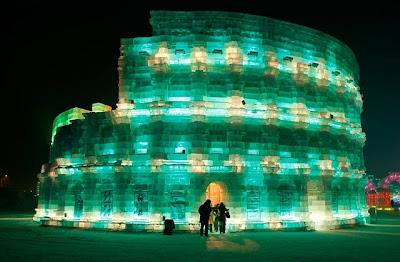 Esculturas incríveis de gelo e neve