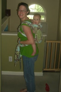 Susannah 8 months in mei tai back carry