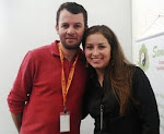 Jornalista Claudinei Moreira e eu - Rede Globo Minas