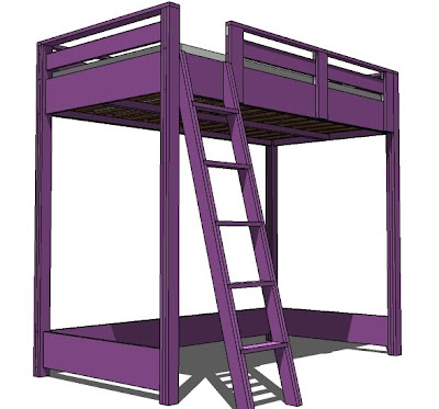 but every now and then i just gotta go for a bigger plan and this one is quite large - Bunk Loft Bed Plans