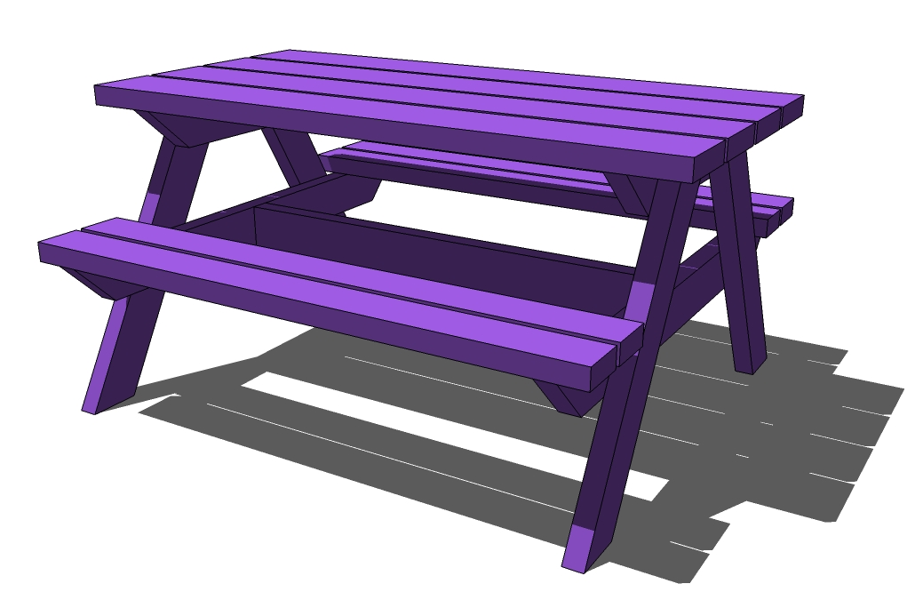 ... plans folding picnic table bench plans octagon picnic table plans