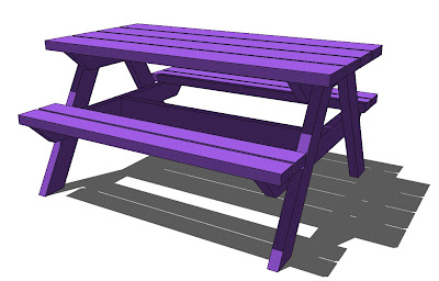 I Used The Same Measurements As Big Kids Picnic Table For Legs Bigger Plans Are Here