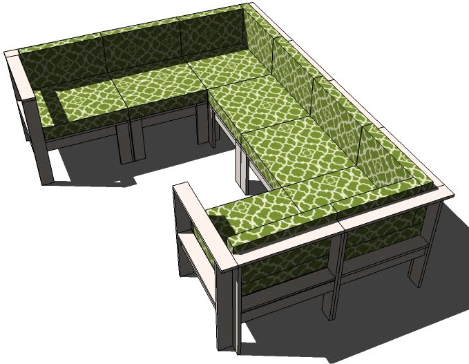 ... Outdoor Sectional Armless Section | Free and Easy DIY Project and