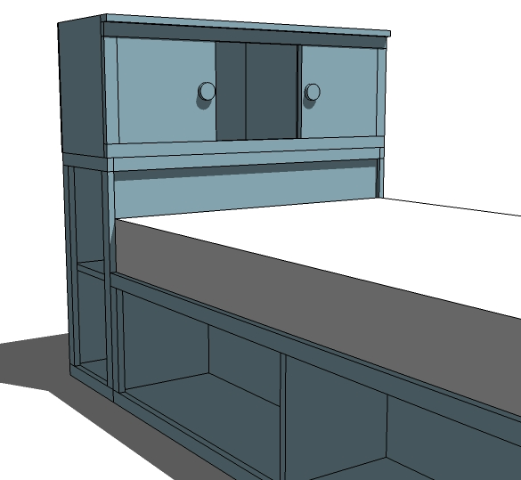 Ana white twin storage headboard base plans diy projects for Twin bed base with storage