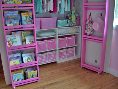 You Can See How I Simply Built Bookshelves, Attached Them To The Inside Of  Existing Closet Doors, Put The Doors On Hinges, And Added A Couple Extra  Square ...