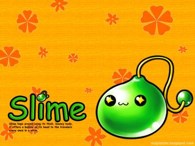 maplestory wallpaper. Wallpaper - Slime