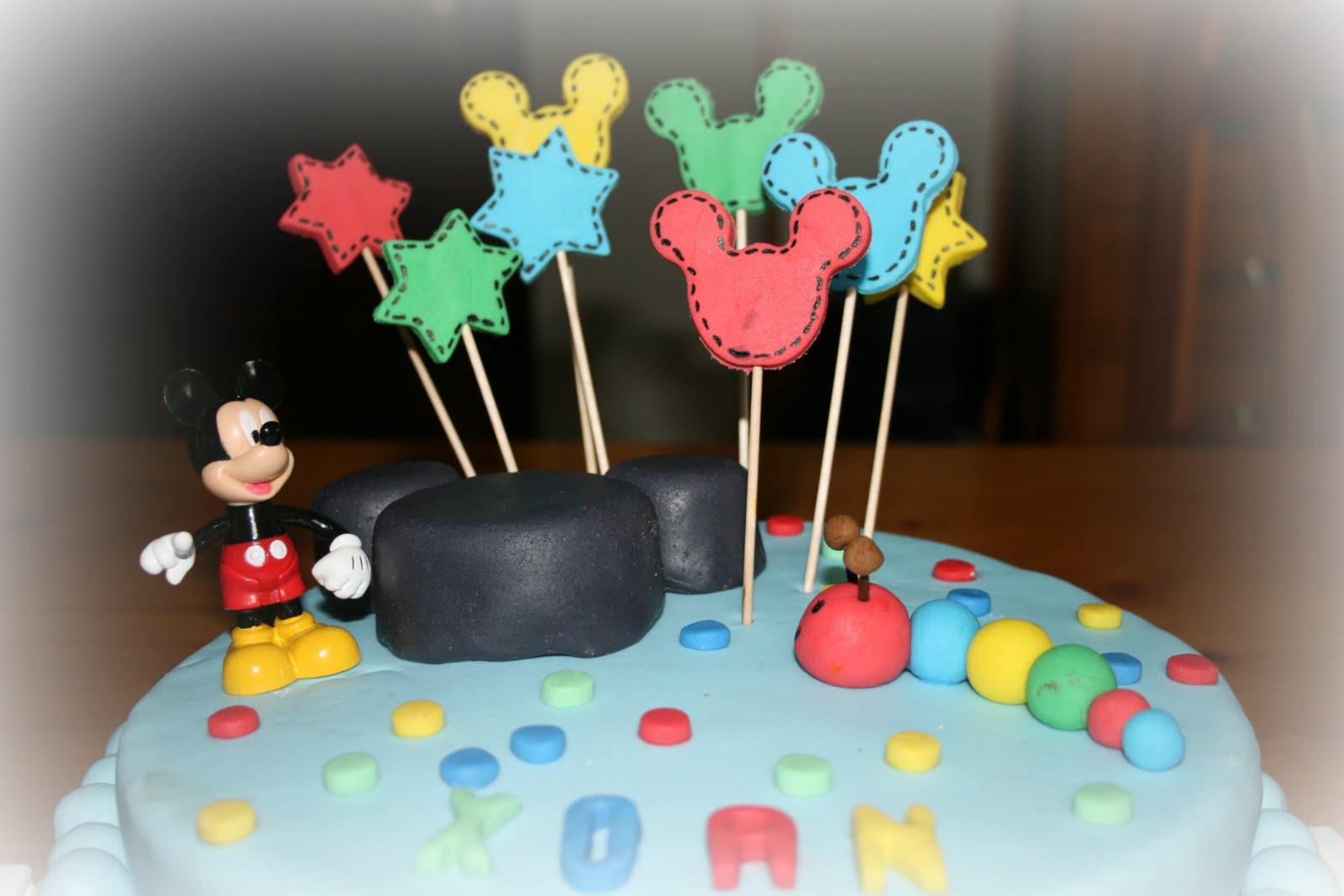 Cocina de color Lila: Tarta fondant de Mickey Mouse