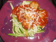 Turkey meatballs w/ zucchini pasta