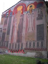Façades décorées dans la vieille ville de Plovdiv