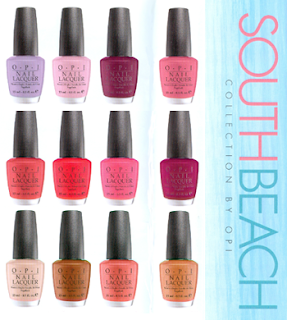 south beach collection, OPI, nail polish