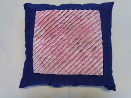 Chenille block made into a cushion