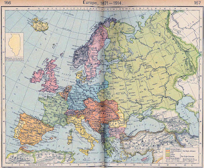 Blank outline map europe 1939