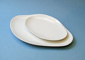 porcelain wave plate from global table