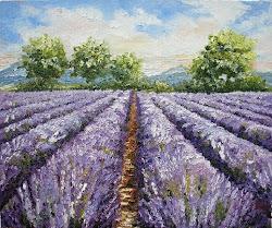 Lukisan Lavender Field di Ruang Sister Ann dari Ohio, Marissa Haque's Lecturer at Unika Atmajaya